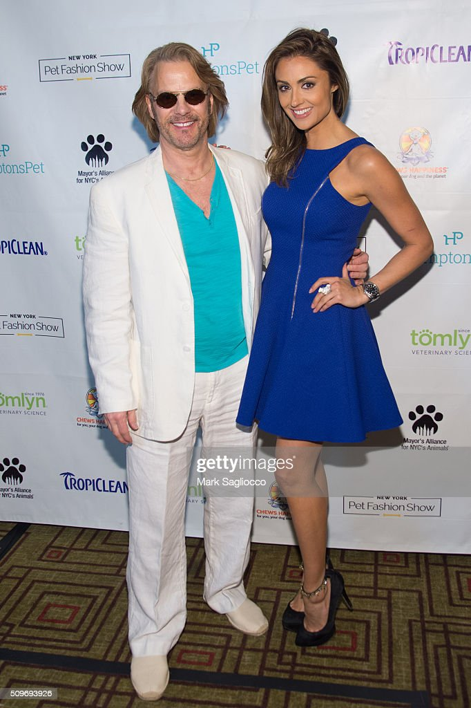 Pet Media PR President Gregg Oehler (L) and Actress Katie Cleary attend the 12th Annual NY Pet Fashion Show at Hotel Pennsylvania on February 11, 2016 in New York City.