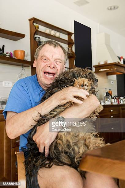 pet therapy - developmental disability stock photos and pictures