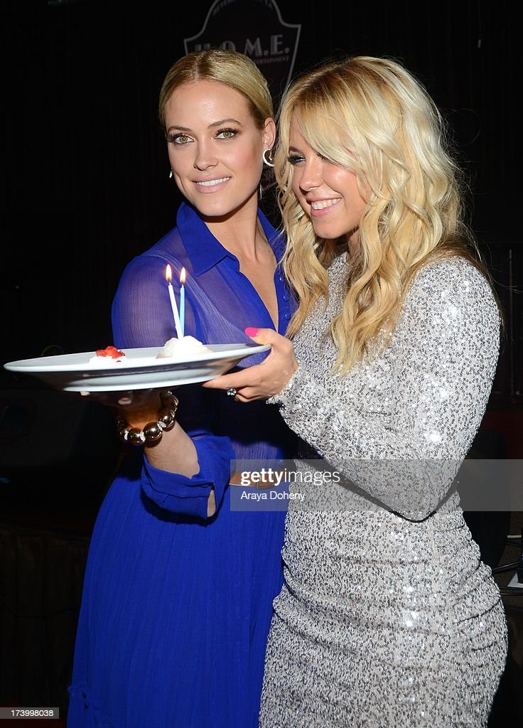 Peta Murgatroyd and Chelsie Hightower attend the Chelsie Hightower and Peta Murgatroyd Charity Birthday Party on July 18, 2013 in Los Angeles, California.