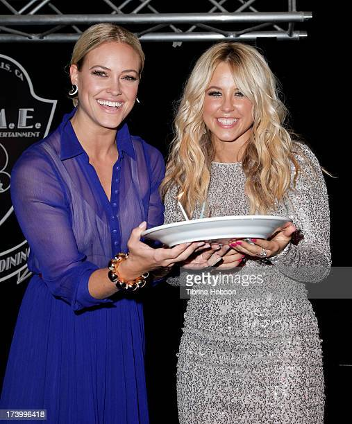 Peta Murgatroyd and Chelsie Hightower celebrate their birthdays supporting antihuman trafficking organization 'Unlikely Heroes' on July 18 2013 in...