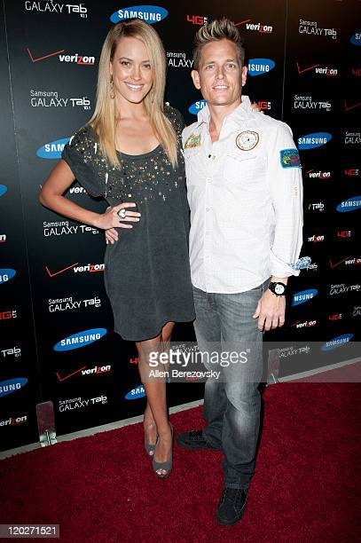Peta Murgatroyd and Damian Whitewood arrive at the Samsung Galaxy Tab 101 launch party at The Beverly on August 2 2011 in Los Angeles California