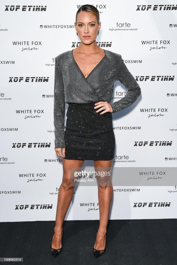 White Fox Boutique Swimwear Launch Of 100% Salty : News Photo