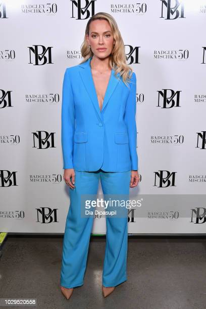 Peta Murgatroyd poses backstage at the Badgley Mischka show during New York Fashion Week The Shows at Gallery I at Spring Studios on September 8 2018...