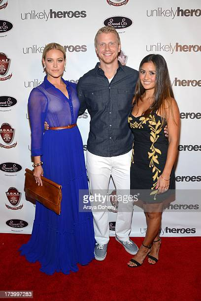 Peta Murgatroyd Sean Lowe and Catherine Giudici attend the Chelsie Hightower and Peta Murgatroyd Charity Birthday Party on July 18 2013 in Los...