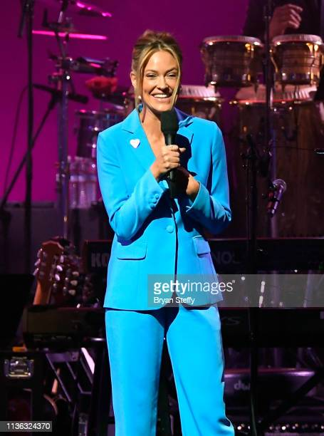 Peta Murgatroyd speaks during the 23rd annual Keep Memory Alive 'Power of Love Gala' benefit for the Cleveland Clinic Lou Ruvo Center for Brain...
