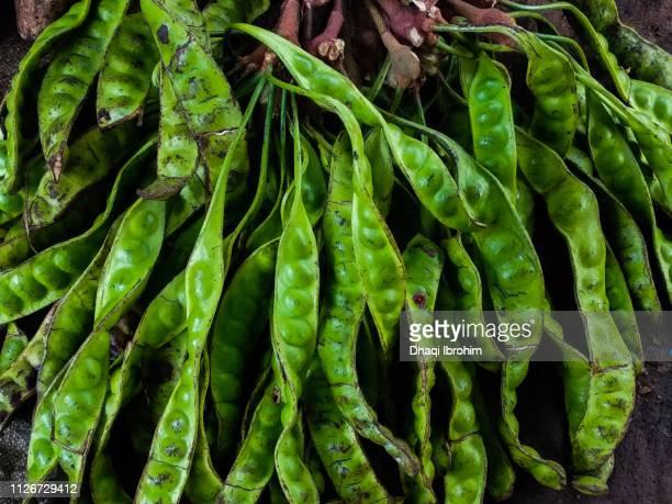 Petai Beans At Market Stall