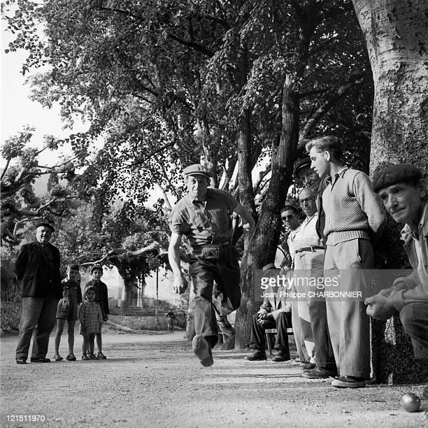 Petanque In Bargemon In The 50'S