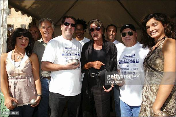 Petanque in festival with Jacques Dutronc In L'Ile Rousse France On September 24 2005 The club sport of petanque of Ile Rousse Balagne organizes the...