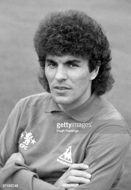 Petar Borota of Chelsea poses for a photocall during a PreSeason training session held in August 1981 at Stamford Bridge in London England