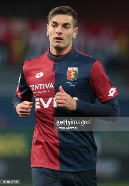 Petar Brlek of Genoa CFC looks on during the serie A match between Genoa CFC and US Sassuolo at Stadio Luigi Ferraris on January 6 2018 in Genoa Italy