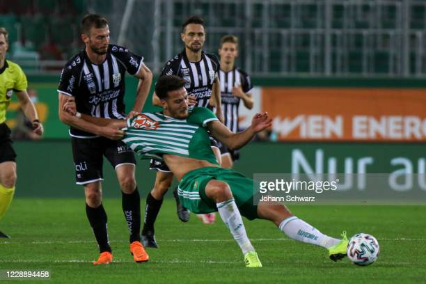 Petar Filipovic of LASK and Ercan Kara of Rapid during the tipico Bundesliga match between SK Rapid Wien and LASK at Allianz Stadion on October 4...