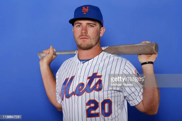 Pete Alonso of the New York Mets poses for a photo on Photo Day at First Data Field on February 21 2019 in Port St Lucie Florida