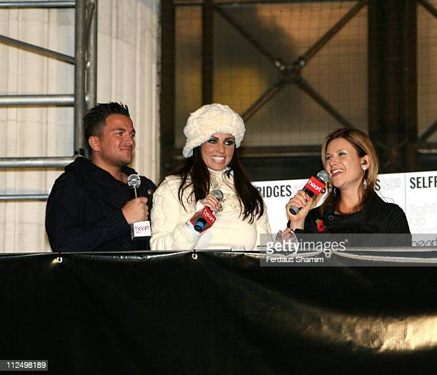 Pete Andre Katie Price and Harriet Scott during Oxford Street Christmas Lights 2006 SwitchOn in London United Kingdom