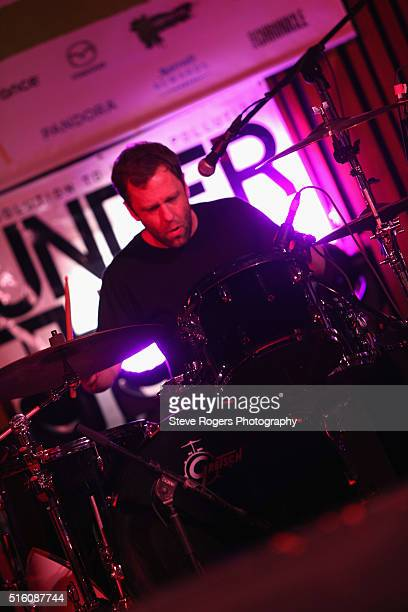 Pete Baker of Younghusband performs onstage at Under the Radar during the 2016 SXSW Music Film Interactive Festival at Central Presbyterian Church on...