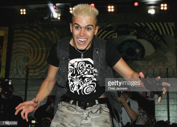 Pete Bennett leaves the Big Brother House as the winner during the final of Big Brother Seven on August 18 2006 in London England