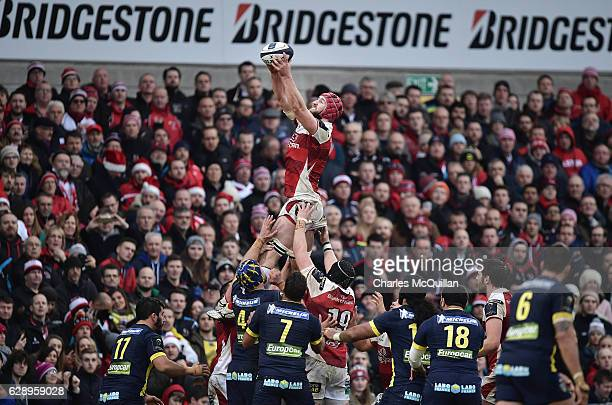 Pete Browne of Ulster during the European Champions Cup game between Ulster and ASM Clermont Auvergne on December 10 2016 in Belfast United Kingdom
