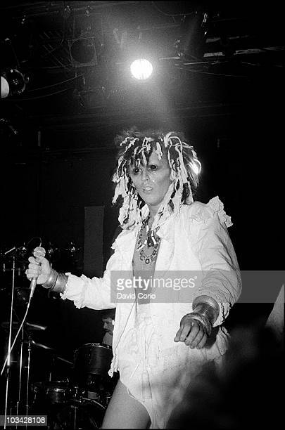 Pete Burns of Dead Or Alive performing at the ICA on 27 August 1981 in London