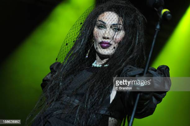 Pete Burns of Dead or Alive performs on stage at Hit Factory Live Christmas Cracker at 02 Arena on December 21 2012 in London England
