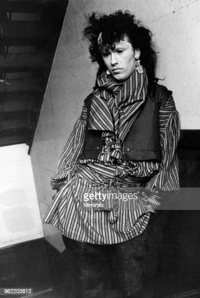 Pete Burns, singer of pop band Dead or Alive. Circa May 1981.