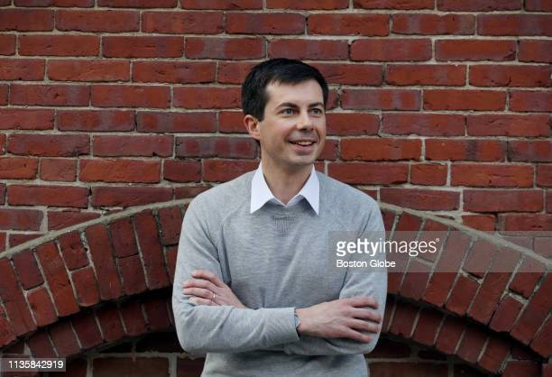 Pete Buttigieg mayor of South Bend IN stands for a portrait after speaking at Gibson's Bookstore in Concord NH on April 6 2019 Buttigieg recently...