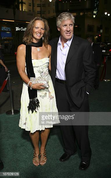 Pete Carroll and wife during Gridiron Gang Los Angeles Premiere Arrivals at Grauman's Chinese Theatre in Hollywood California United States