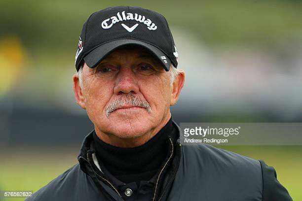 Pete Cowen looks on during the third round on day three of the 145th Open Championship at Royal Troon on July 16 2016 in Troon Scotland