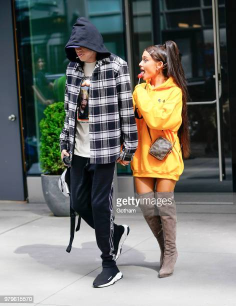 Pete Davidson and Ariana Grande are seen on June 20 2018 in New York City
