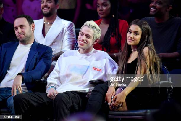 Pete Davidson and Ariana Grande attend the 2018 MTV Video Music Awards at Radio City Music Hall on August 20 2018 in New York City