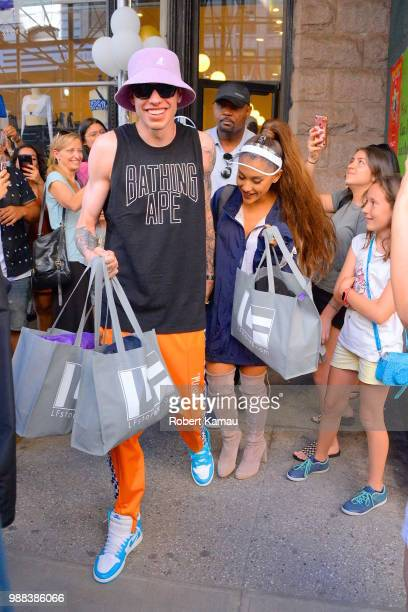 Pete Davidson and Ariana Grande seen in Manhattan on June 29 2018 in New York City