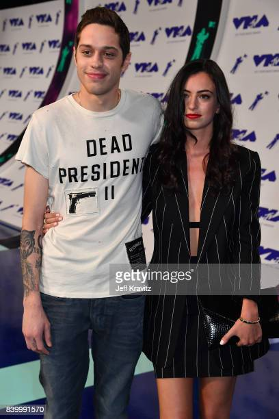 Pete Davidson and Cazzie David attend the 2017 MTV Video Music Awards at The Forum on August 27 2017 in Inglewood California