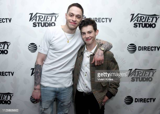 "Pete Davidson and Griffin Gluck at the ""Big Time Adolescence"" afterparty at DIRECTV Lodge presented by AT&T at Sundance Film Festival 2019 on January..."