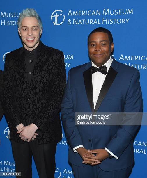 Pete Davidson and Kenan Thompson attend The American Museum Of Natural History 2018 Gala at American Museum of Natural History on November 15 2018 in...