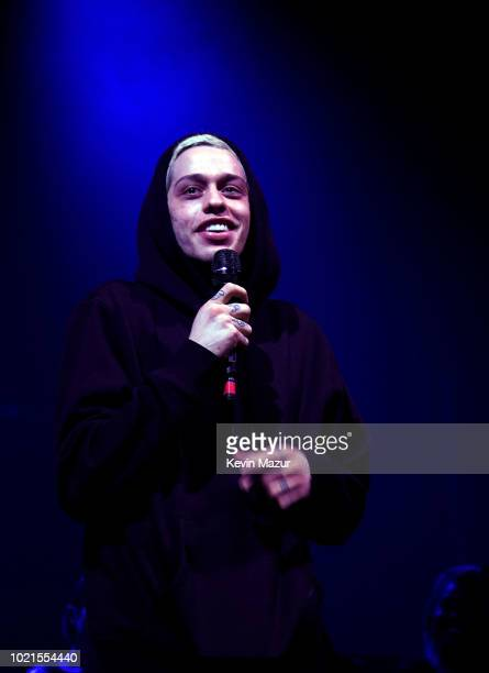 Pete Davidson attends American Express And Ariana Grande Present 'The Sweetener Sessions' At Chicago's The Vic at The Vic Theater on August 22 2018...