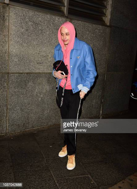 Pete Davidson seen on the streets of Manhattan on September 20 2018 in New York City