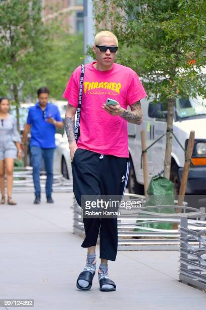 Pete Davidson seen out and about in Manhattan on July 11 2018 in New York City