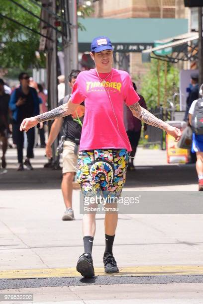 Pete Davidson seen out walking in Manhattan on June 20 2018 in New York City