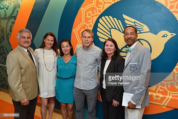 CEO LACUSC Pete Delgado Jennifer Howell founder Art of Elysium Amanda Fairey artist Shepard Fairey Margaret Bruning director Civic Art and Phillip...