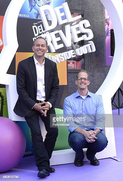 Pete Docter and Jonas Rivera attend the 'Inside Out' Premiere at Callao Cinema on July 15 2015 in Madrid Spain