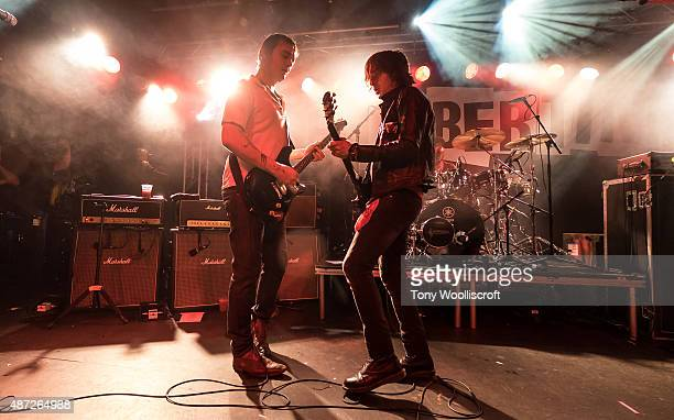 Pete Doherty and Carl Barat of The Libertines perform at Rock City on September 7 2015 in Nottingham England