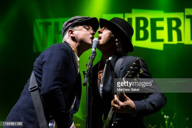 Pete Doherty and Carl Barât of The Libertines perform at O2 Academy Brixton on December 19, 2019 in London, United Kingdom.