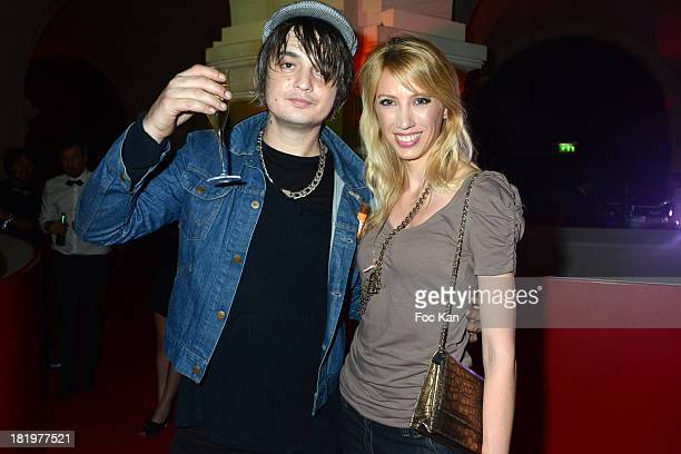 Pete Doherty and Ginie Van de Noort attend the '2 Many DJs And Friends' Party Hosted By Carlsberg At Opera Garnier Restaurant on September 26 2013 in...