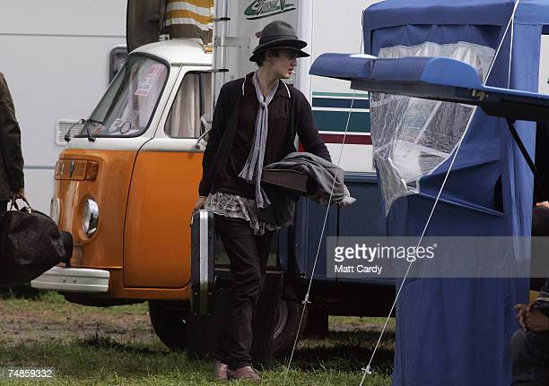 Pete Doherty arrives at Worthy Farm Pilton near Glastonbury on June 22 2007 in Somerset England The festival that was started by dairy farmer Michael...