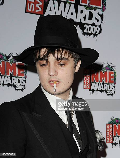 Pete Doherty attends the Shockwaves NME Awards at O2 Academy Brixton on February 25 2009 in London England