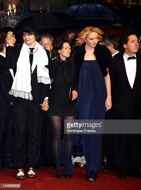 """Pete Doherty, Director Sylvie Verheyde, actress Lily Cole and actor Guillaume Gallienne attend the """"Confession Of A Child Of The Century"""" Premiere..."""