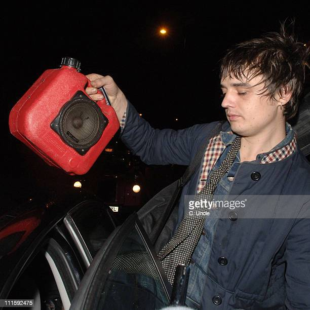 Pete Doherty during Pete Doherty and Kate Moss Sighting at Babyshambles Performance January 15 2007 at Boogaloo in London Great Britain