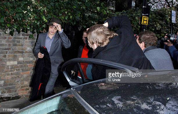 Pete Doherty during Pete Doherty Leaves Kate Moss's House January 18 2007 at Private Residence in London Great Britain