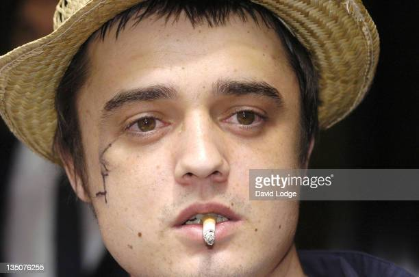 Pete Doherty during The 50th Ivor Novello Awards Arrivals at Grosvenor House Hotel in London Great Britain