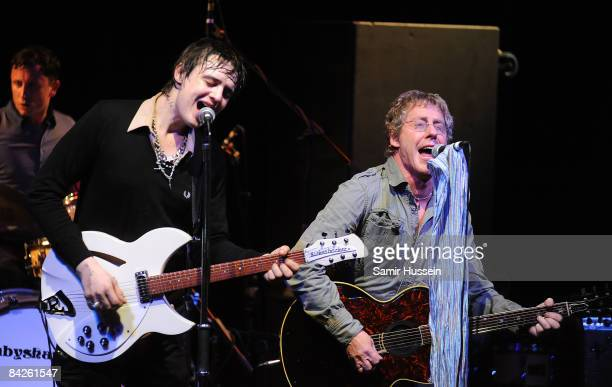 Pete Doherty of Babyshambles and Roger Daltrey of The Who perform a one off concert together in aid of The Teenage Cancer Trust at the Carling...