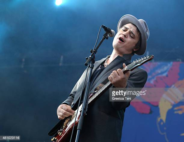 Pete Doherty of Babyshambles performs at day two of Best Kept Secret Festival at Beekse Bergen on June 21 2014 in Hilvarenbeek Netherlands