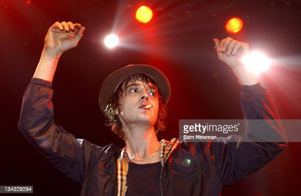 Pete Doherty of Babyshambles performs live on stage at Shepherds Bush Empire on 20, February 2006